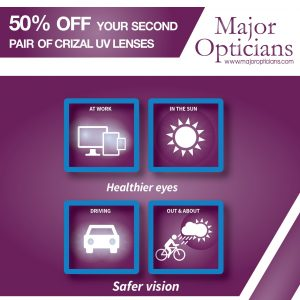 50% off Crizal UV lenses